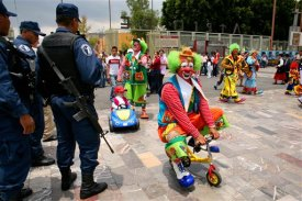 APTOPIX Mexico Clowns Pilgrimage