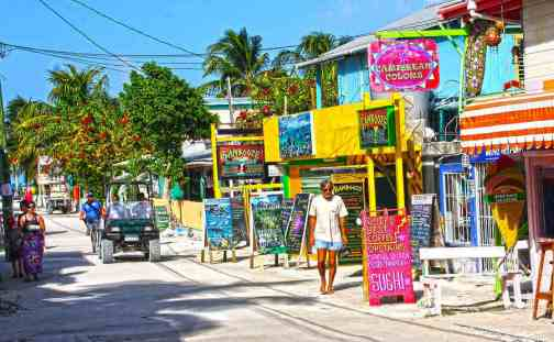 Caye-Caulker-Roads